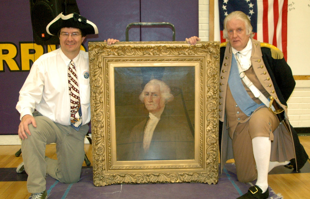 A visit from George Washington to dedicate his portrait.