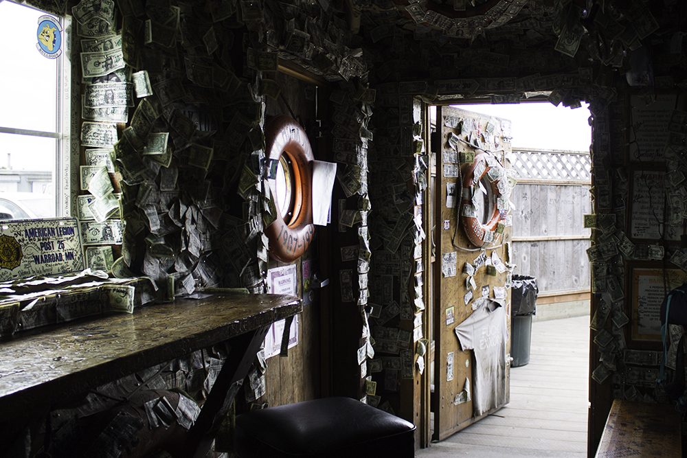 Inside the Salty Dawg on the Homer Spit