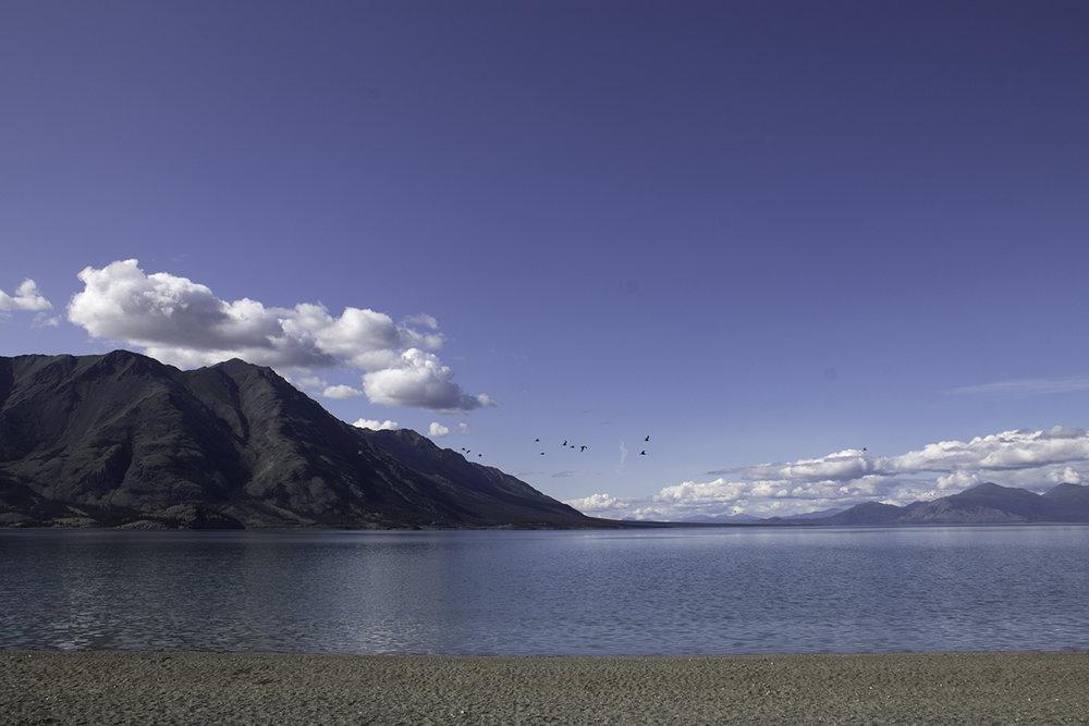 Beautiful Kluane Lake in the Yukon Territory