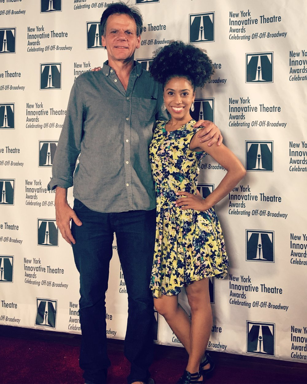 Halle with T. Schreiber Artistic Director Peter Jensen at the New York Innovation Theatre Awards