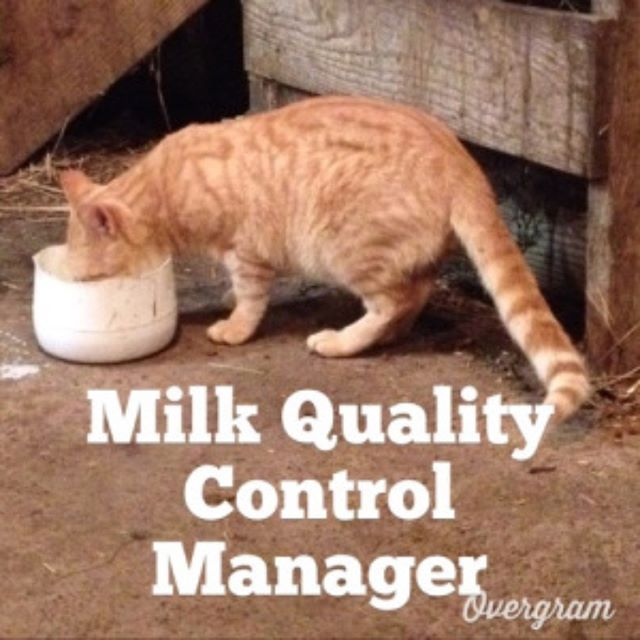 It is national cat day - everyone has a job to do on a dairy farm! (Source: Ryan Bright - follow him on instagram or twitter @farmerbright) #nationalcatday #dairyemployee #milktester #milk