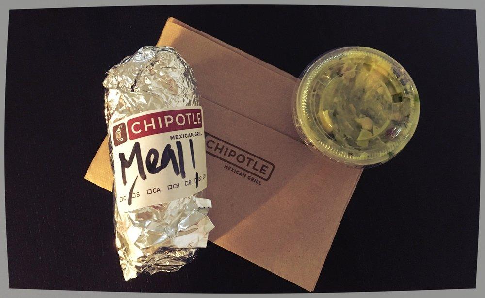 Chipotle: Burrito + Guacamole