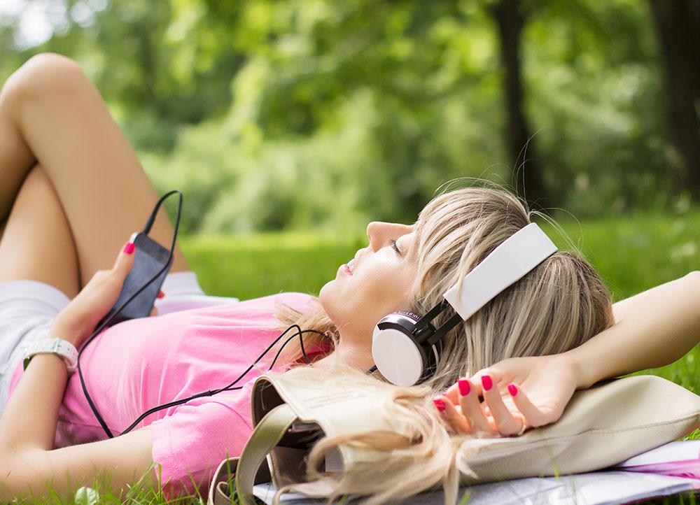 music, self care