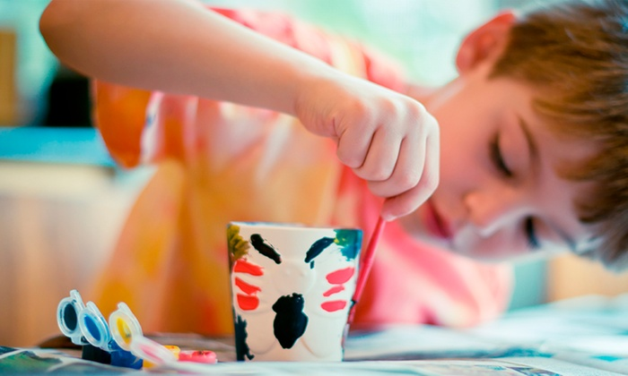 Painting with Kids — Brevard Clay
