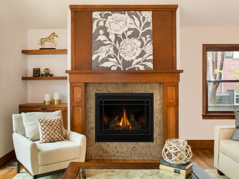 SP34 Direct Vent Gas Fireplace - Contemporary direct vent heating solution to be installed inside an existing fireplace.
