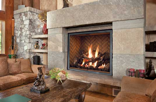 Mendota FullView Gas Fireplace Series - Unfettering style, uninterrupted view