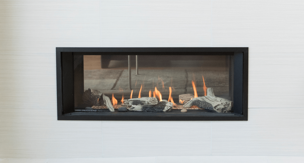 L1 2-Sided Series Zero Clearance Fireplaces - A seamless transition between spaces, boasting the same proportions as the L1 Series.