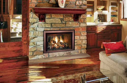 FullView Gas Fireplace Insert - See more of the flames, less of the metal