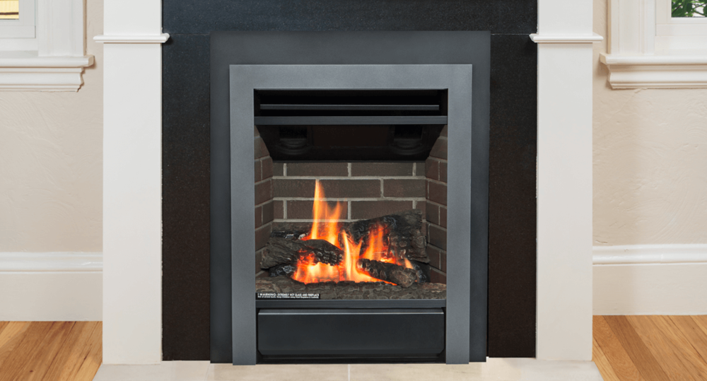 Portrait Gas Fireplace Insert - Adaptive fireplace fronts complement both traditional and contemporary room settings.