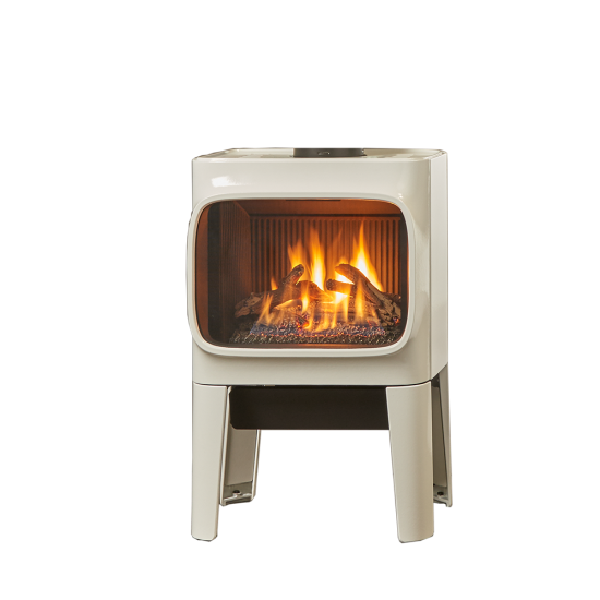 GF 305 Freestanding Gas Stove - The same modern, cast iron styling in a freestanding direct vent gas stove