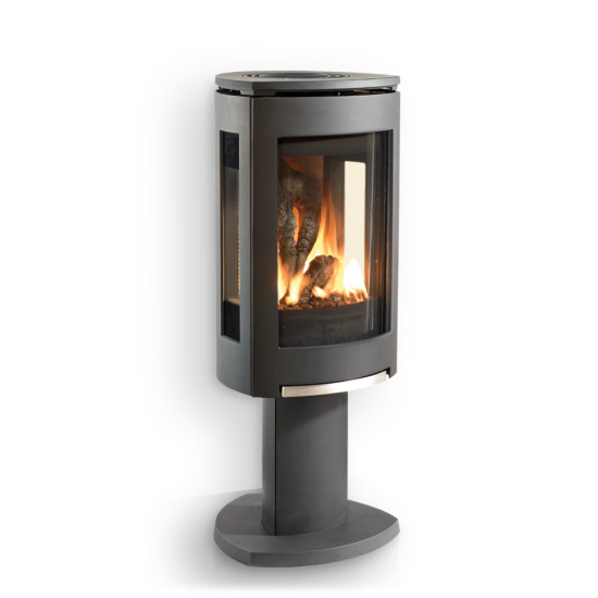 GF 370 DV Freestanding Gas Stove - An exceptional fire view from any angle