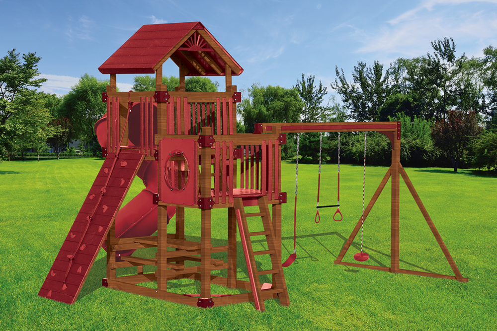 RL-2 Turbo Tower Playset - Price: $8,598 Free Installation! (Wood Grain Finish)Price: $7,286 Free Installation! (Any Standard Finish)