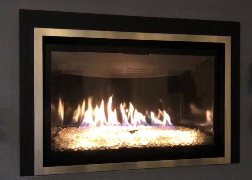 Chaska 34 Glass  Gas Insert - Contemporary gas insert that's guaranteed to be the focal point of your room.   Save $1,175
