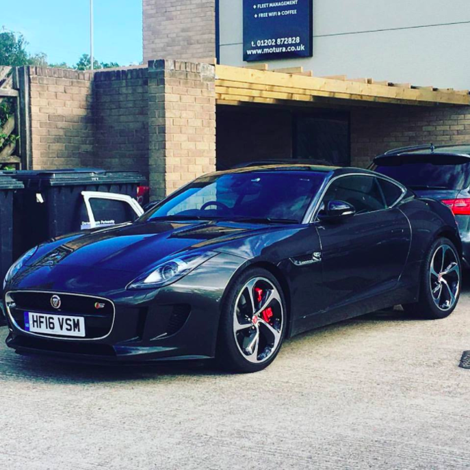 This Jaguar F-Type came into us for some body paint repairs and all-round wheel refurbishments -