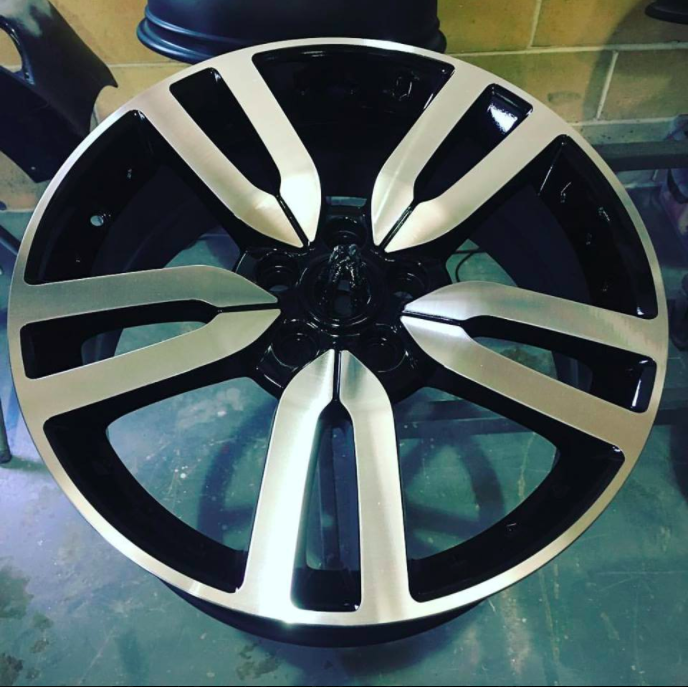 These Discovery 4 wheels came in to visit our CNC Diamond Cut Lathe -