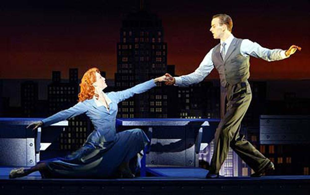 Noah Racey and Nancy Lemenager.  Never Gonna Dance.  Broadhurst Theatre.