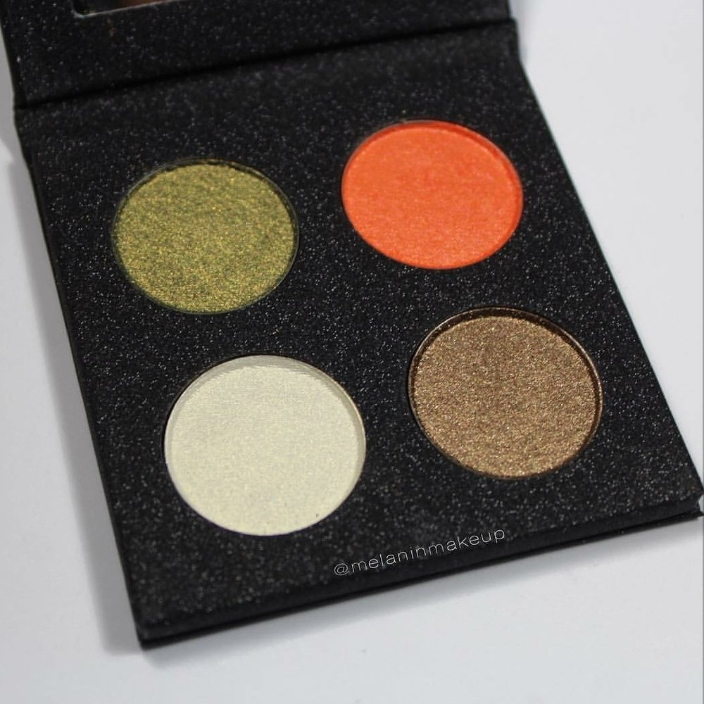 PALETTE  - Every season we will release a mini shadow palette with four pressed Mineral Shadows based on a season theme. Our last palette was for Fall, Pumpkin Patch Palette