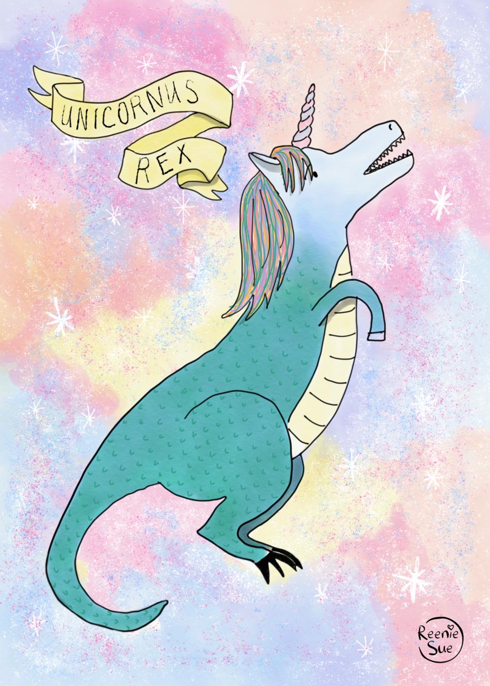 """Unicornus Rex"" digital illustration"