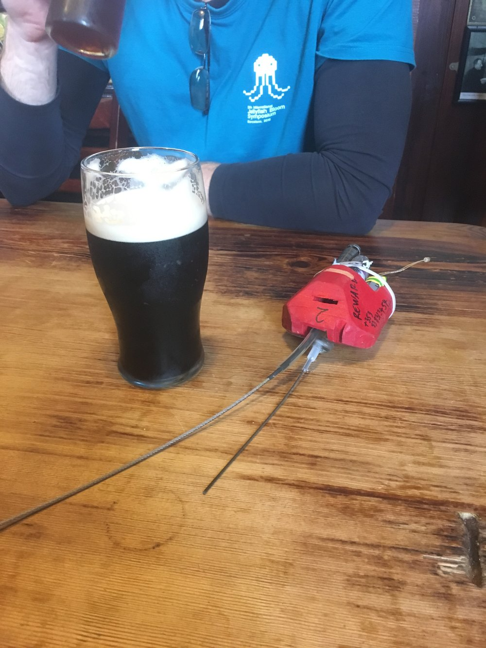 Once the package was recovered, there was only one thing to do: grab a pint at the local pub.