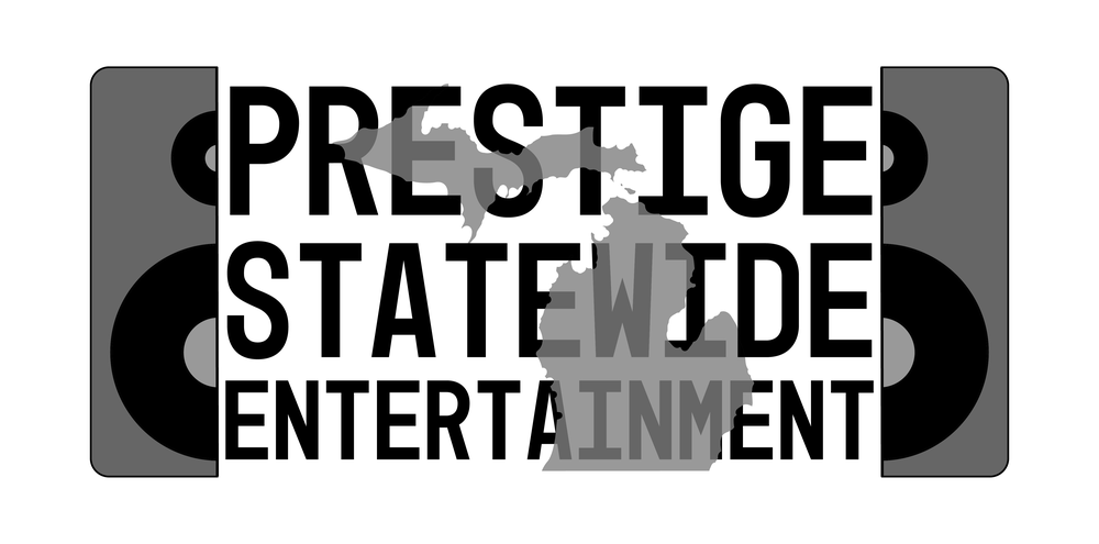 Logo and Banner design for Prestige Statewide Entertainment DJ Services available in Michigan.