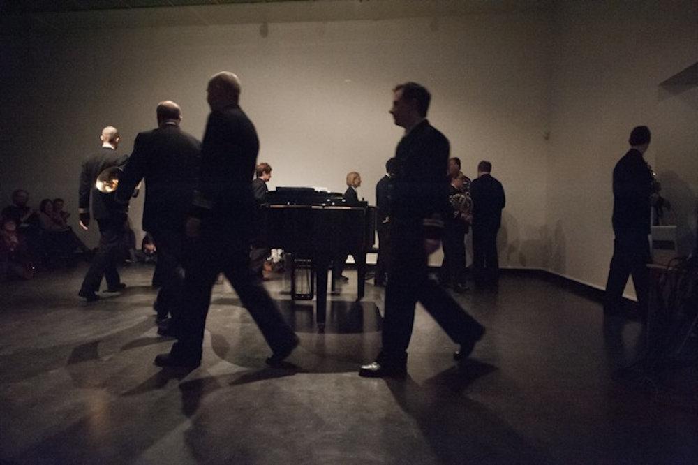 Free Exercise , performance view, Bergen Kunsthall, Borealis Festival, 2014