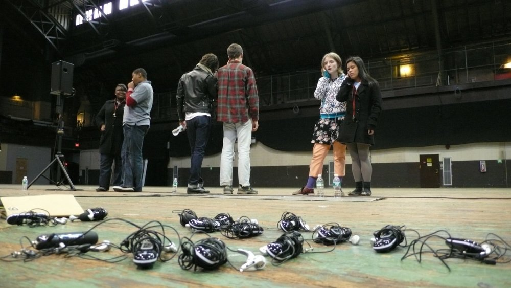 Teenage Lontano, 2008, rehearsal view, Whitney Biennial, Park Avenue Armory, New York. Photo: Phoebe Sudrow