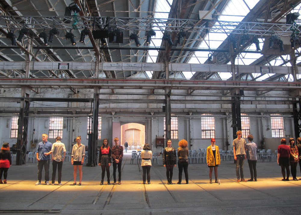 Teenage Lontano, 2011, performance/installation view, Midland Railways Workshops, Perth, Australia