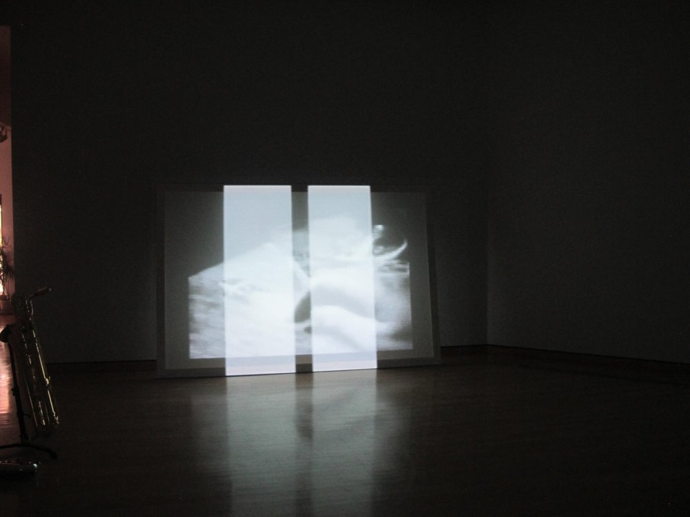 WHITE LINES, installation view, MidAmerican Center for Contemporary Music, Bowling Green State University, 2012