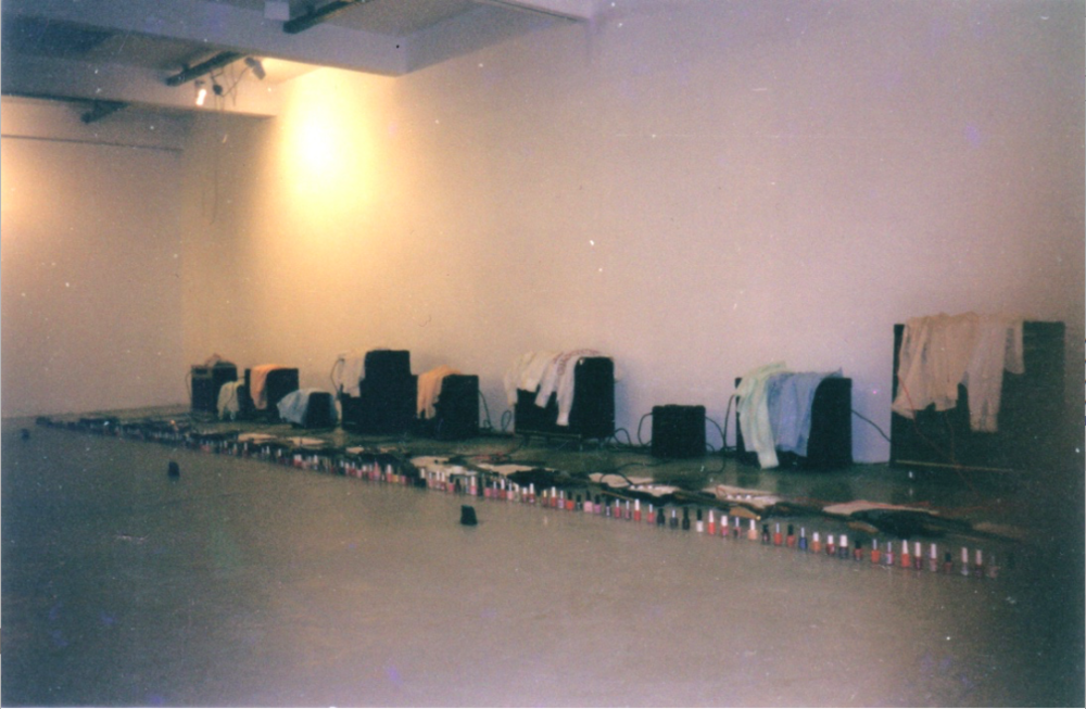 "Sheer Frost Orchestra, installation view, in ""Fantastic Matter of Fact"" (exhibition), Kunstraum Innsbruck, Austria, 2000"