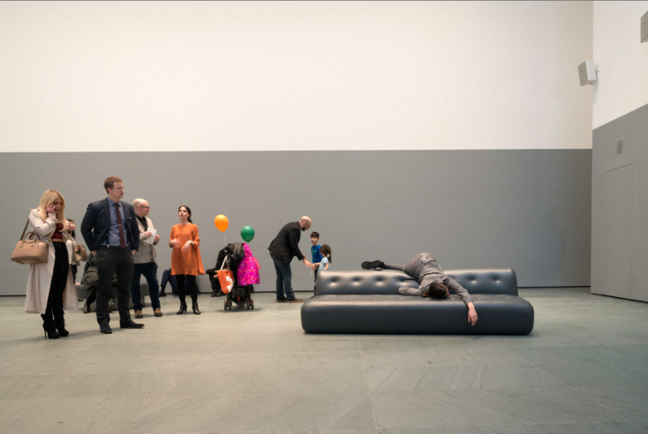 PLASTIC (installation view with loudspeakers), 2016, Museum of Modern Art, New York