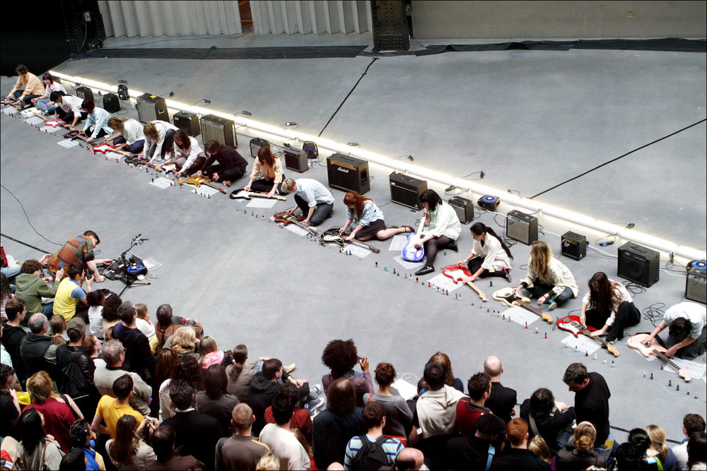 Sheer Frost Orchestra, performance view, Tate Modern, London, 2006