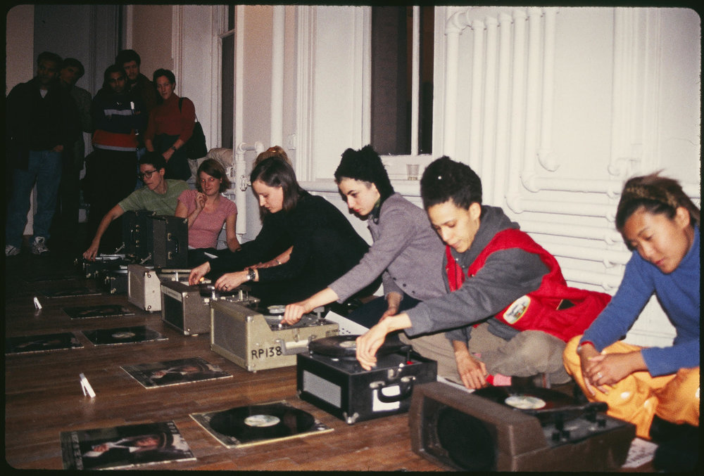 'Ultra-magnetic, Ultra-amateur Orchestra' live performance as part of the exhibition  Hot Coffee,  Artists Space, 1997