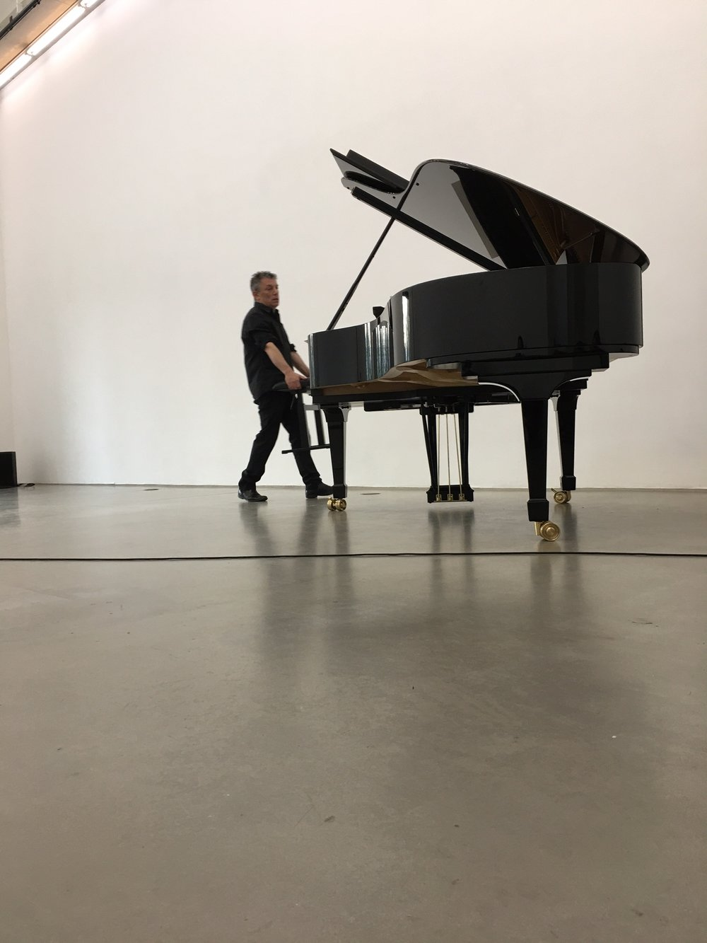 Deathstar,  exhiibition/performance view, with Marino Formenti, piano., Portikus, 2017
