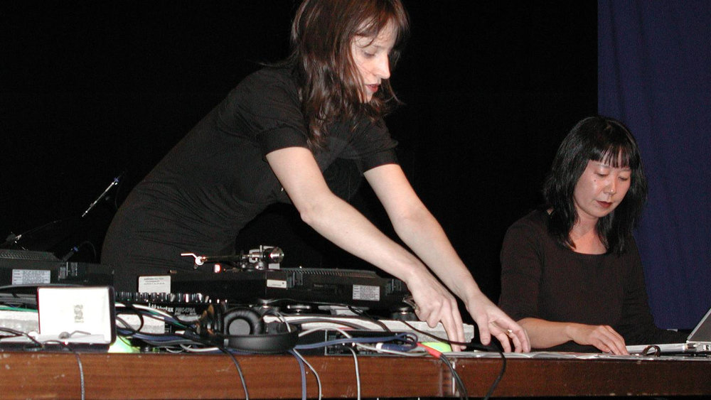 Marina Rosenfeld and Ikue Mori duo, Donaueschingen 2002