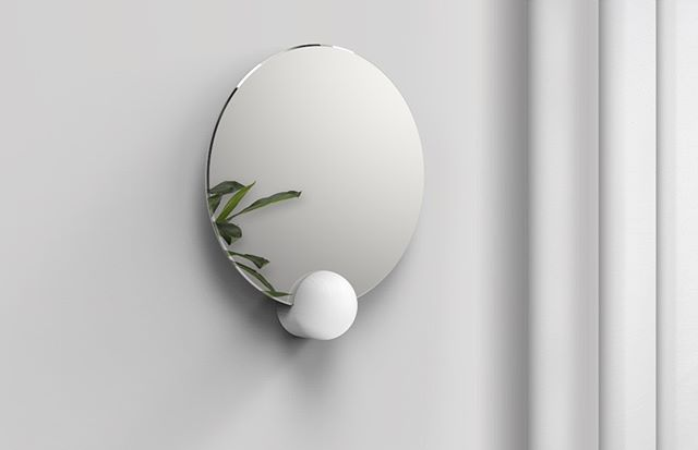 Mirror - One shape a day . #design #industrialdesign #productdesign #mirror #wood #decoration #home #homedecor #minimalist #circular #clean
