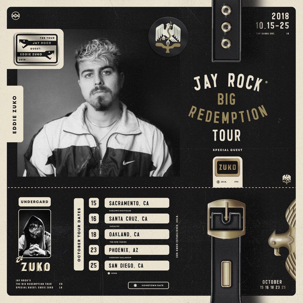 Eddie Zuko announces tour with TDE's Jay Rock