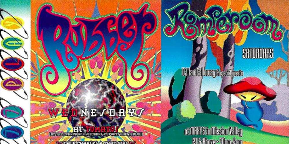 San Diego rave flyers