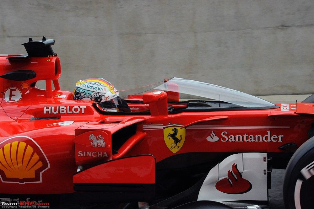 VETTEL TESTING THE SHIELD