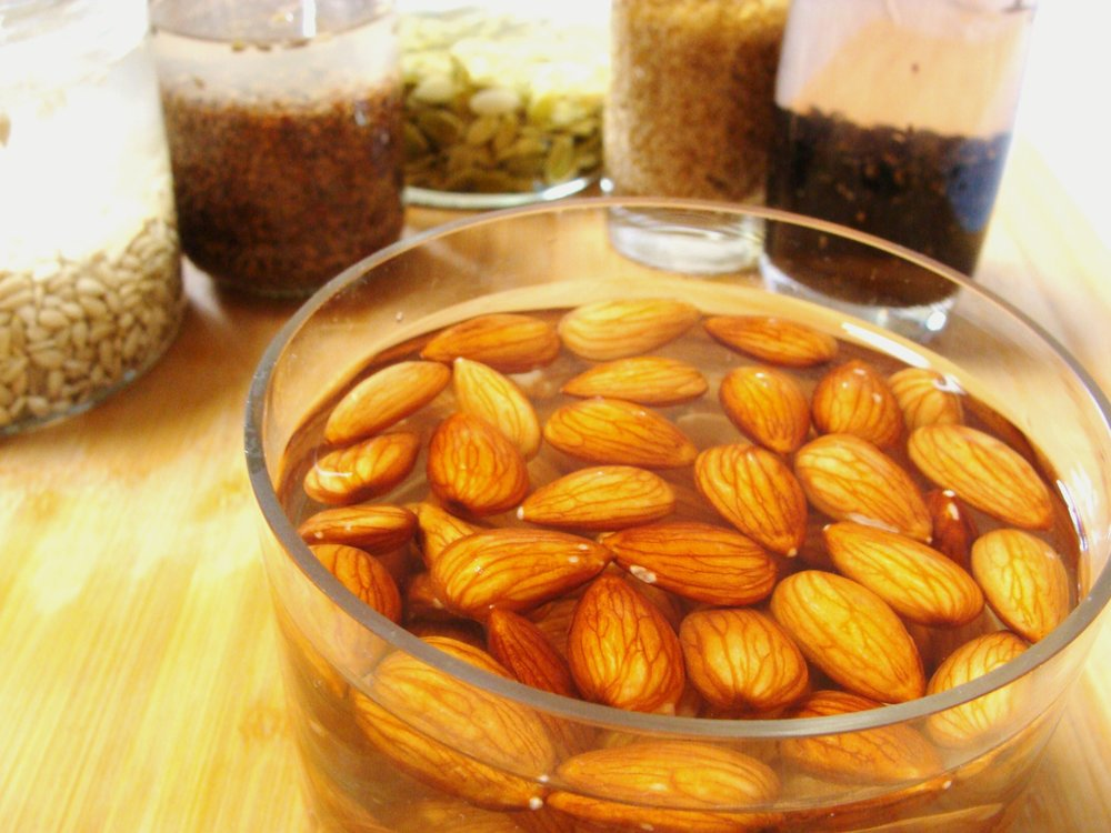 Soaking nuts and seeds releases enzyme inhibitors and makes them more digestible.
