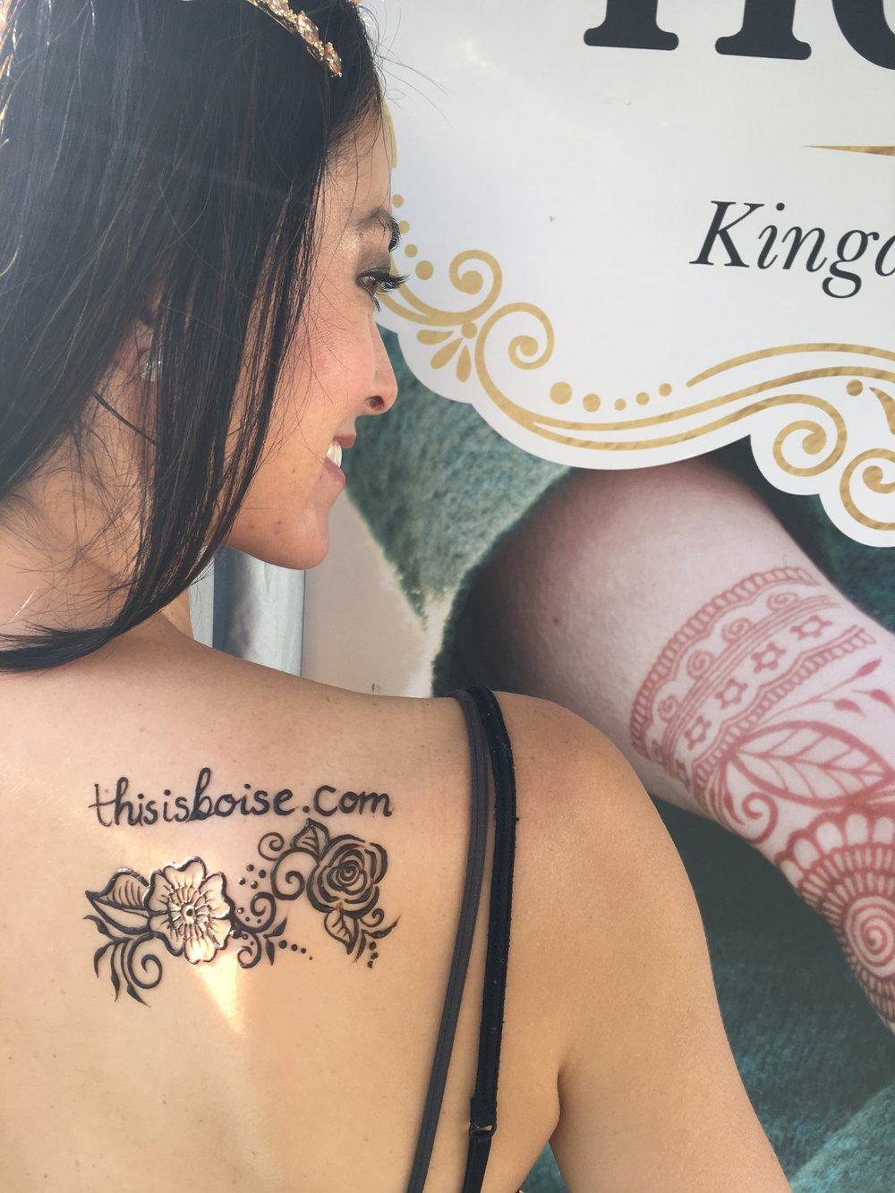 Kingdom Henna Tattoo by Joanna Russel featuring ThisisBoise.com