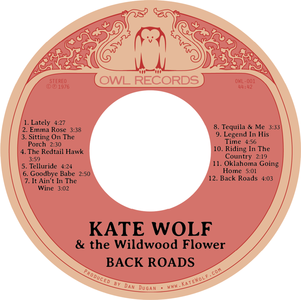 New 2017 CD Label for Back Roads