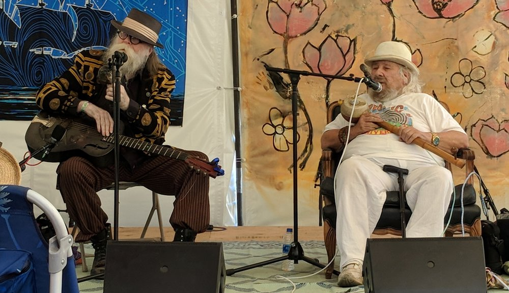 Baby Gramps & Wavy Gravy (on the Revival  stage)