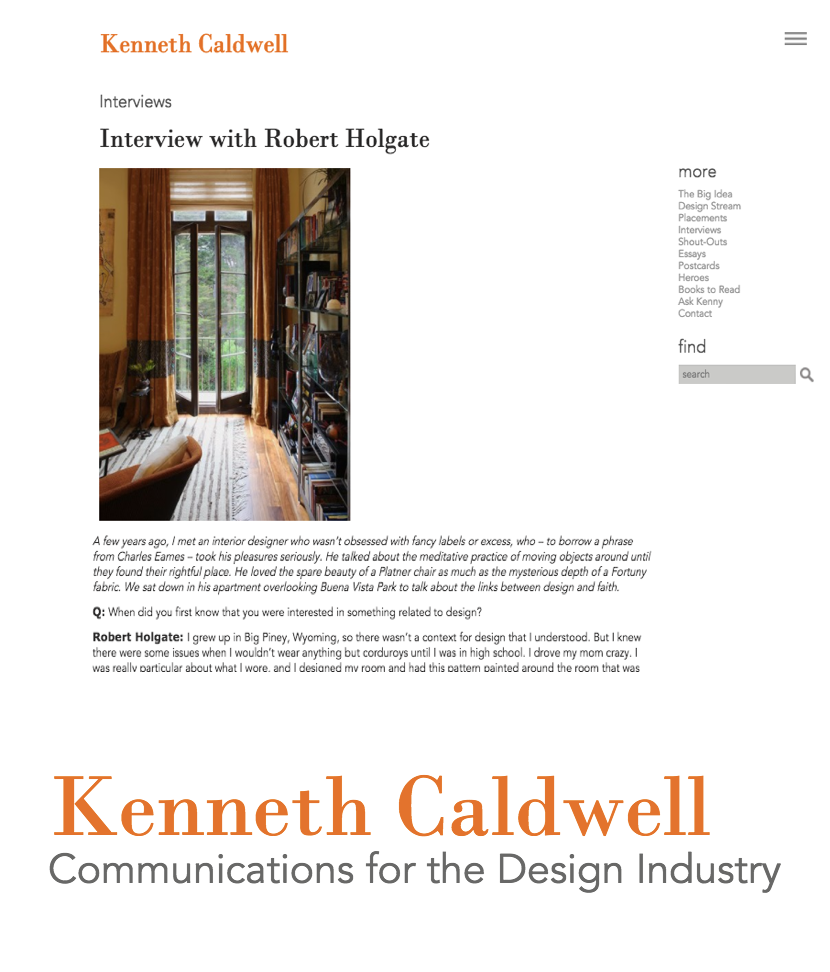 Interview with Robert Holgate