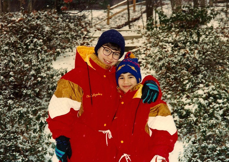 Bran and Chris snow day