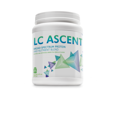 'LC ASCENT' - full-spectrum blend of protein sources—Including soy, whey, and algae. CLICK IMAGE TO ORDER