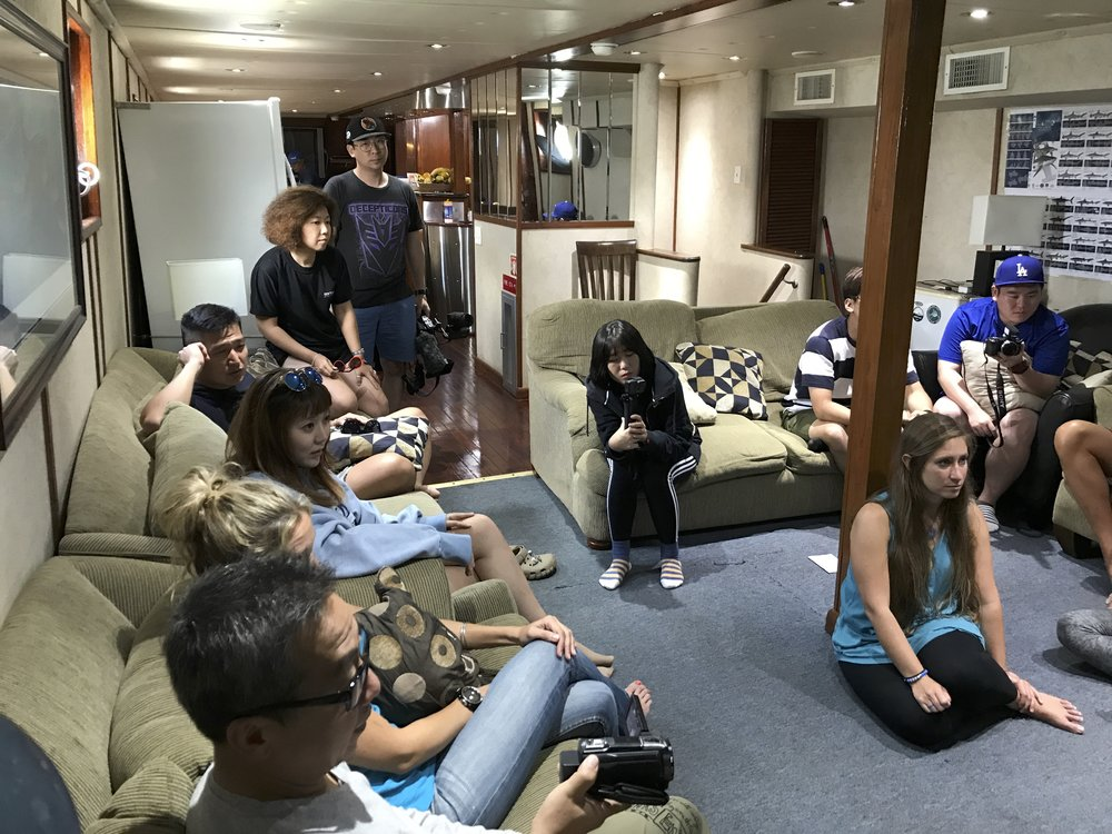 Our community room on the ship for a week. Lots of sleep on the way to our destination.