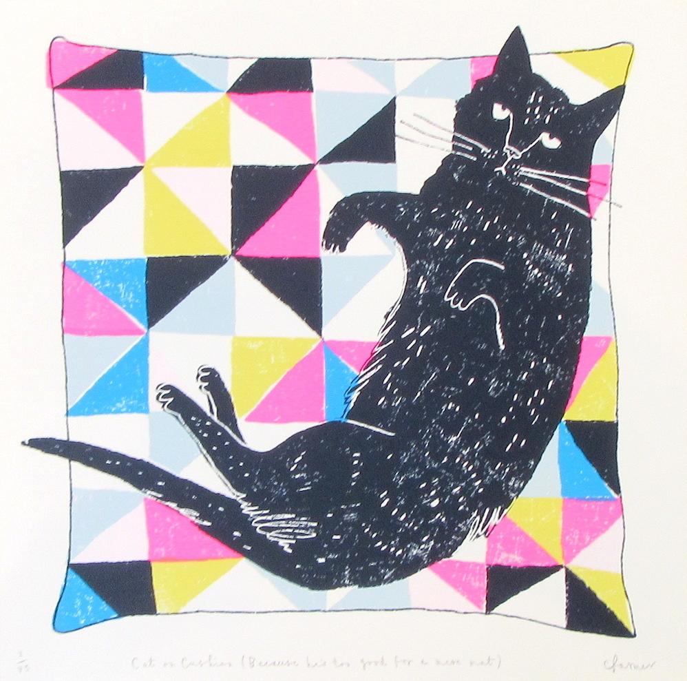 Cat on Cushion