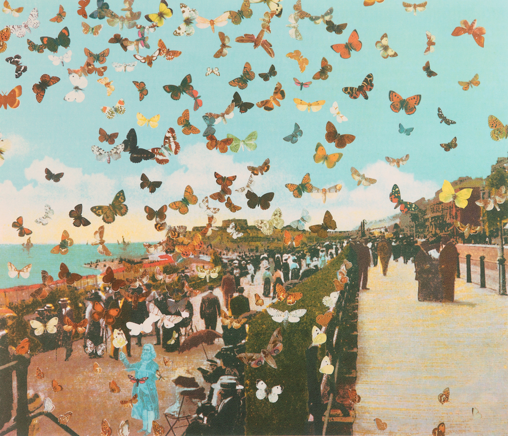 The Butterfly Man in Eastbourne - Homage to Damien Hirst