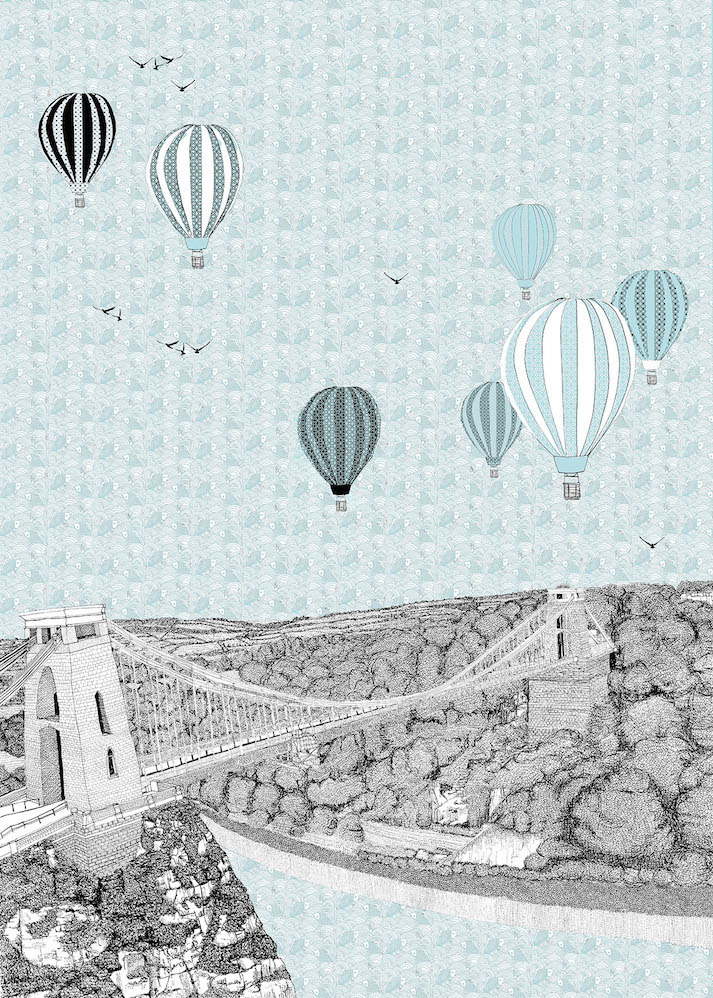 Blue Balloons Over Bristol