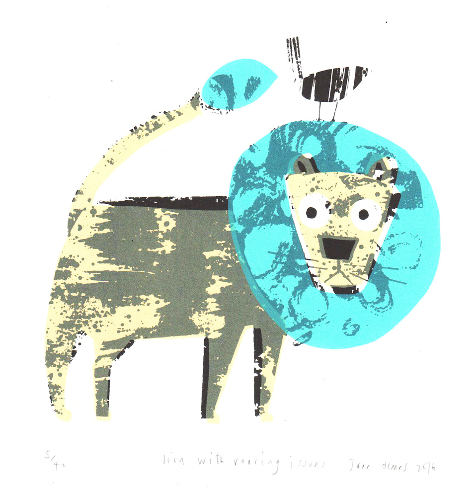Rostra Gallery. Jane Ormes. Lion with Roaring Issues.jpg